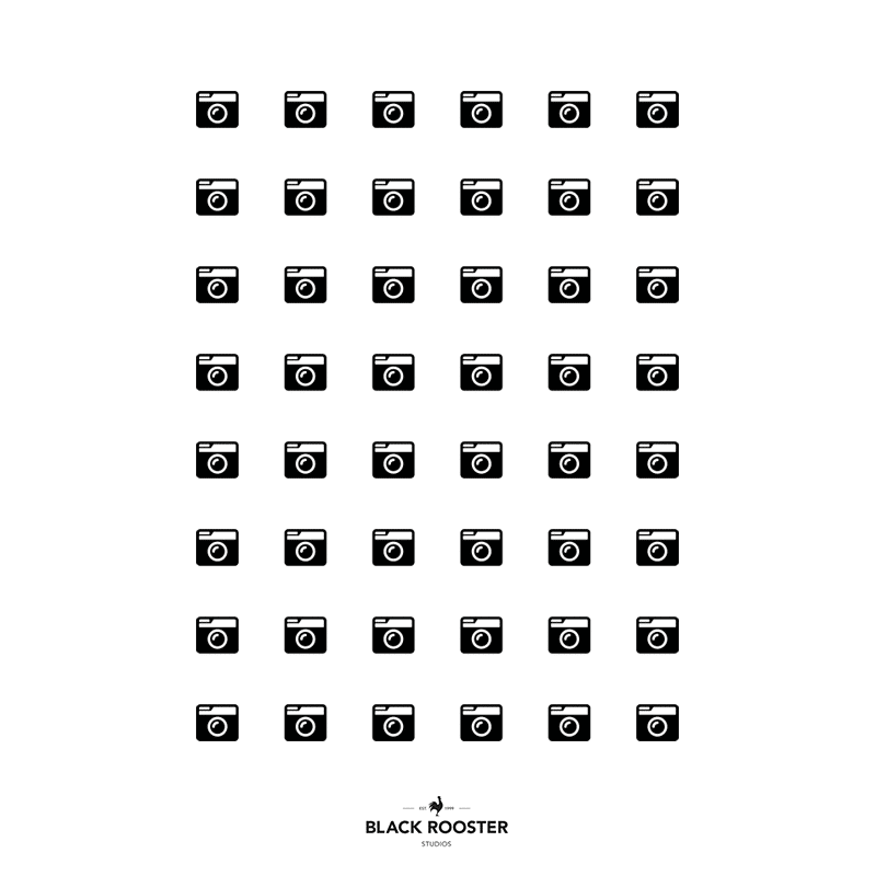Camera grid T-Shirt. Black Rooster Studios