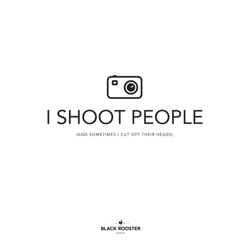 I Shoot People T-shirt. Hunters of Light. T-shirts for sale