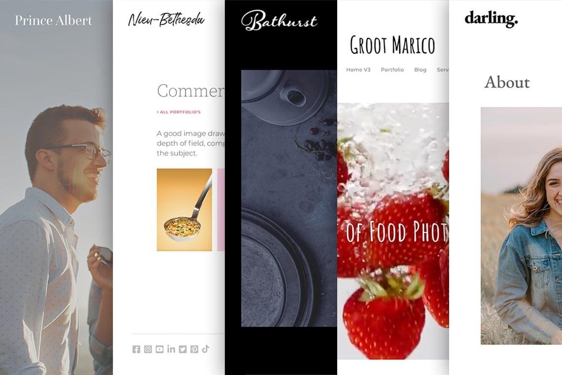 Lightbox websites for creative people